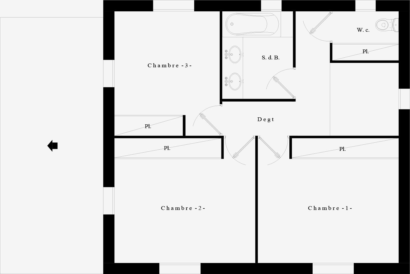 Suntree VILLA Concept 1 Plan étage