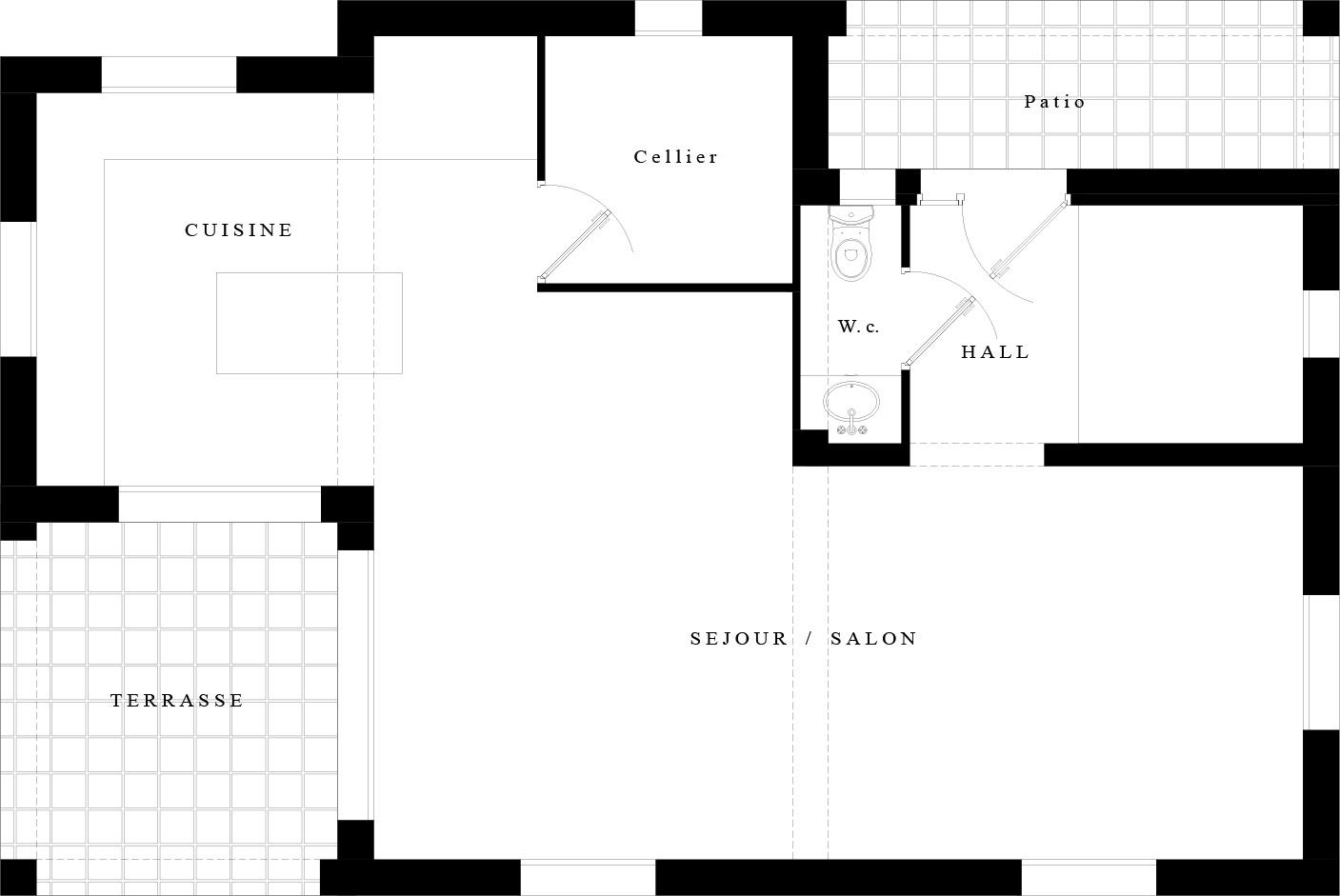Suntree VILLA Concept 1 Plan RDC